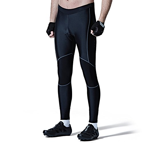 Santic Men's Cycling Bike Pants 4D Padded Long Bicycle Compression Tights Breathable Trousers (Best Waterproof Mountain Bike Trousers)