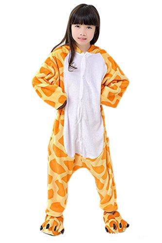 Babyonlinedress Pijama de niño de una pieza con diseño de anime sudadera de disfraz de cartoon holgado y cómodo con capucha Jirafa