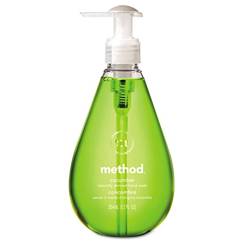 Method MTH00029 Gel Hand Wash, Cucumber, 12 Oz Pump Bottle, 6/carton