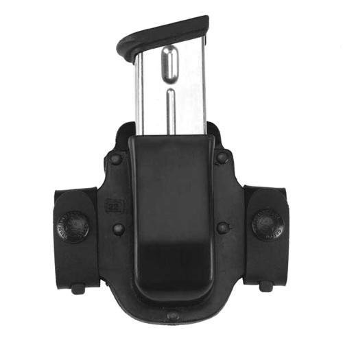 Galco Single Mag Case - Galco M15X Matrix Single Mag Case for 9mm.40.357 Sig Staggered Polymer Magazines and S&W M&P 9mm.40 Metal Magazines (Black, Ambi)