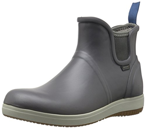 Bogs Womens Quinn Slip On Rain Boot Gray