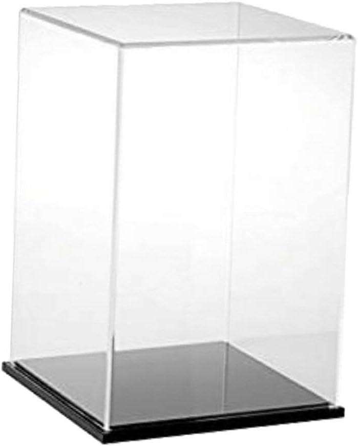 Tubayia Vitrina de Resistente al Polvo acrílico DIY Construir Display Box – Caja para Auto Modelo Figura de acción de muñeca (15 x 15 x 30 cm): Amazon.es: Hogar