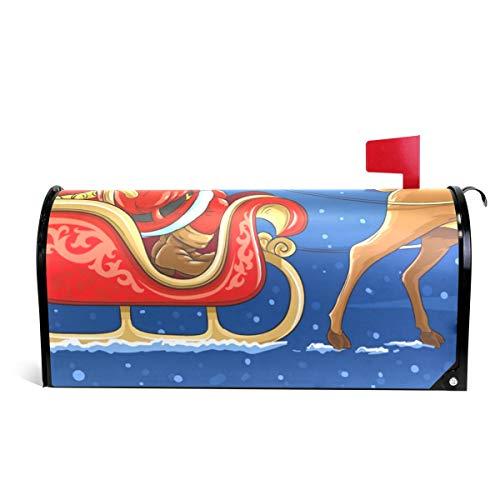 (Ladninag Mailbox Covers Magnetic Santa Sleigh Christmas Holiday Deer)