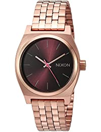 Nixon Women's 'Medium Time Teller' Quartz Stainless Steel Casual Watch, Color:Rose Gold-Toned (Model: A11302617-00)