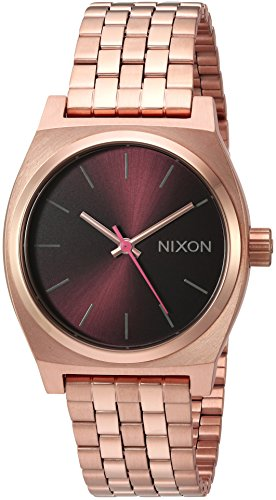 41IWGTSnDWL Nixon Women's 'Medium Time Teller' Quartz Stainless Steel Casual Watch, Color:Rose Gold-Toned (Model: A11302617-00)