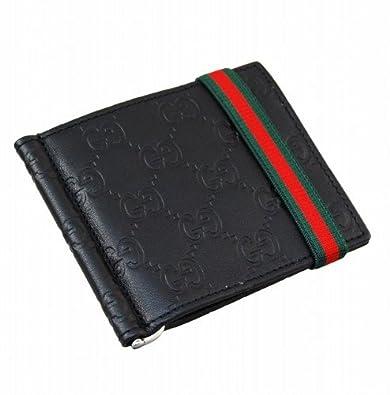 9eed92d4022e Amazon | (グッチ) GUCCI マネークリップ付二つ折り財布 224187 A0VTR 1060 GG型押しカーフ(ブラック) | GUCCI (グッチ) | 財布