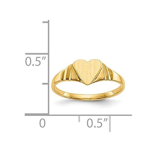14k Yellow Gold Engravable Children's Signet - Signet Ring Yellow Gold Childrens