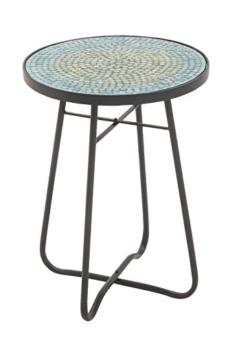 Deco 79 45626 Metal Glass Round Accent Table, 16