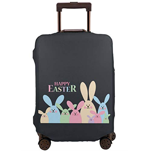 MKJIH Happy Easter Bunny Emoji Travel Suitcase Protector Zipper Suitcase Cover Baggage Suitcase Protector Cover Fit 18-32 Inch ()