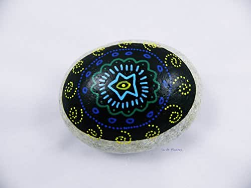 Piedra pintada a mano mandala: Amazon.es: Handmade