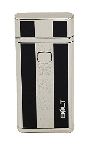 BOLT Lighter® USB Rechargeable Windproof Electric Plasma Arc Cigarette Lighter with Charging Cable and Carrying Pouch