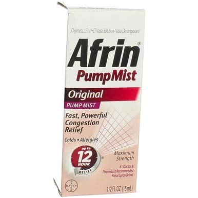 Afrin Pump Mist Original 15 mL (Pack of 5)
