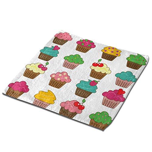 Kitchen Towels In Color Cupcake Set of 4 Washcloths Square Hand Towel Soft Face Wash Cloth Multipurpose Cotton Fingertip Towels for Home Bathroom Use Kids Men Women Set of 3 13 inch (Towel Portmerion Kitchen)