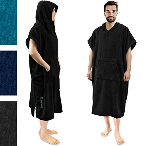 SUN CUBE Surf Poncho Changing Robe with Hood | Quick Dry Microfiber Polyester Changing -