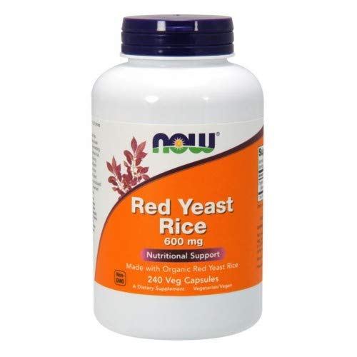 NOW Foods - Red Yeast Rice Nutritional Support 600 mg. - 240 Vegetarian Capsules ( Multi-Pack)