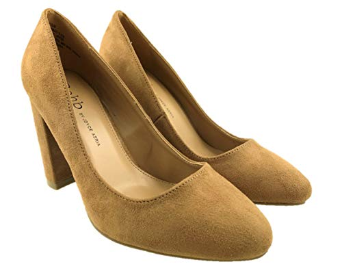 Ladies Fashion Faux Suede High Heel Slip On Court Shoes Size UK 3-8