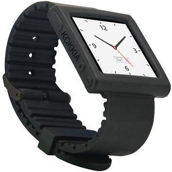 Kokkia I10swatch Correa De Reloj Negra Para Ipod Nano 6g E I10s I10 Ipod Y I10s No Incluidos Home Audio Theater