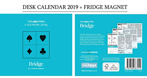 Bridge, The Times Official Day to Day Desk Calendar 2019 + Celebrity Fridge Magnet