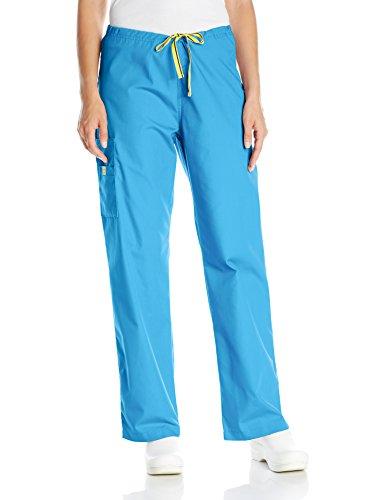 WonderWink Women's Origins Sierra Scrub Pant, Malibu Blue, XX-Large/Petite