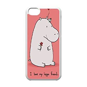 Clzpg Personalized Iphone 5C Case - Hippo cover case