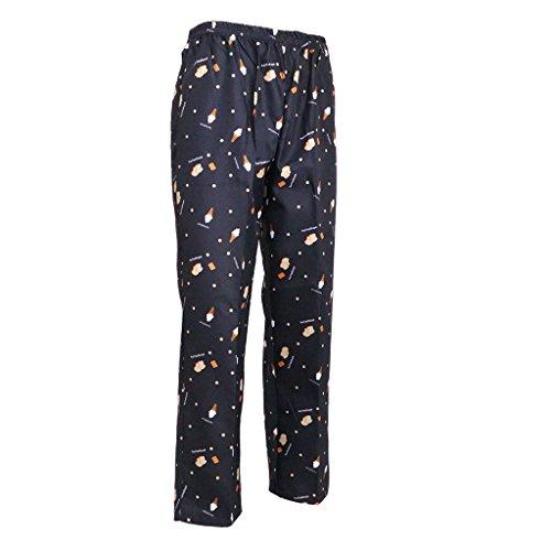 (Fityle Baggy Chef Work Pants Restaurant Kitchen Uniform Trousers Elastic Waistband - Ice Cream, M)