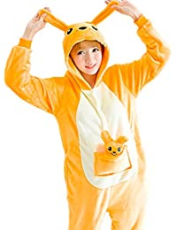 One-Piece Pajamas Unisex Costume Kangaroo Cosplay Adult Animal Onesie Sleepwear