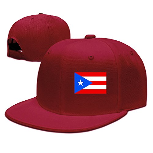 (Cool Flag Of Puerto Rico Baseball Cap Red)