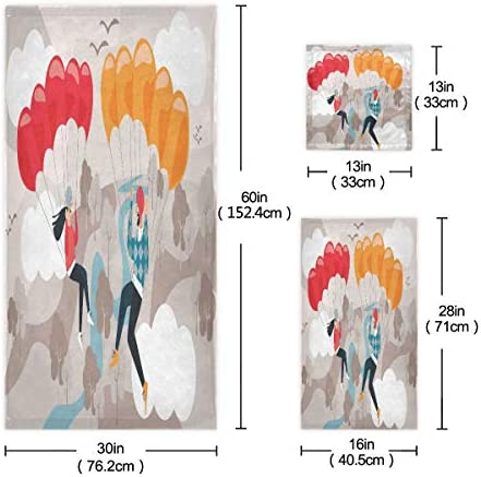 タオル バスタオル フェイスタオル ハンドタオル タオルセット 3点セット 恋人 バンタム 漫画 雲 空速乾 瞬間吸水 耐久性 肌触り抜群