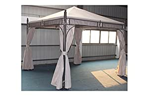 Plicosa m279702 toldo recambio pergola 3 x 3 metal crudo for Sombrillas jardin amazon