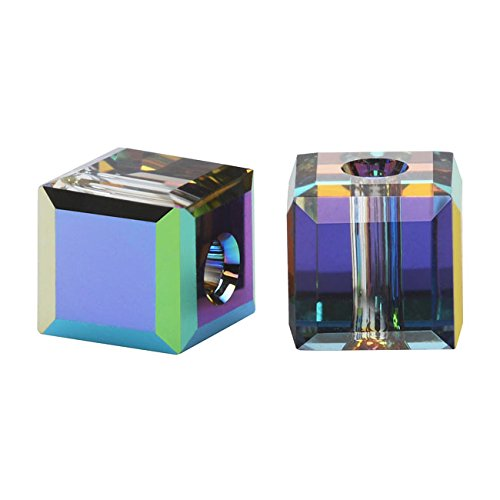 - SWAROVSKI ELEMENTS Crystal #5601 4mm Cube Vitrail Med. Beads (10