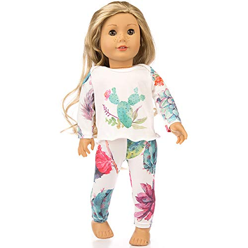 Gbell 18 Inch Doll Pajamas - Sleepwear Nightgown Pajamas Deer Patterns Clothes for 18 inch American Girl Our Generation Doll Clothes Accessories,Baby Girl Doll Clothes Wardrobe Stuff -