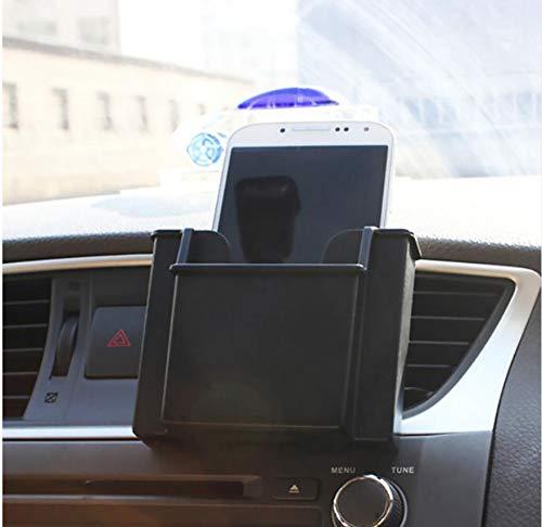 Car Storage Box General Durable Car Air Outlet Phone Holder Card Place Storage Box Black: