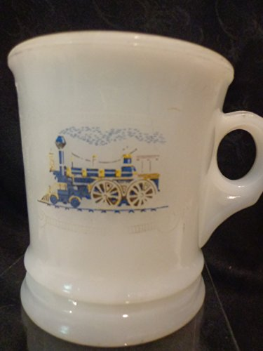Vintage Avon Train Milk Glass Shaving Mug Coffee Cup