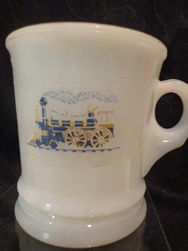 - Vintage Avon Train Milk Glass Shaving Mug Coffee Cup