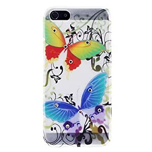 YXF Elegant Colorful Butterfly Pattern TPU Case with Rhinestone for iPhone 5/5S