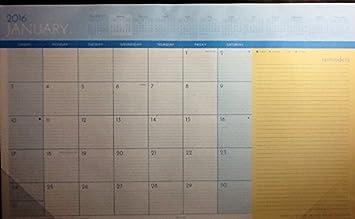amazon com 2016 desk pad monthly planner calendar 11 x 17
