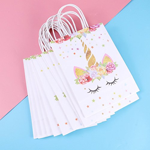 Amazon.com: BESTOYARD 20 Pcs Unicorn Paper Bag Unicorn Party ...