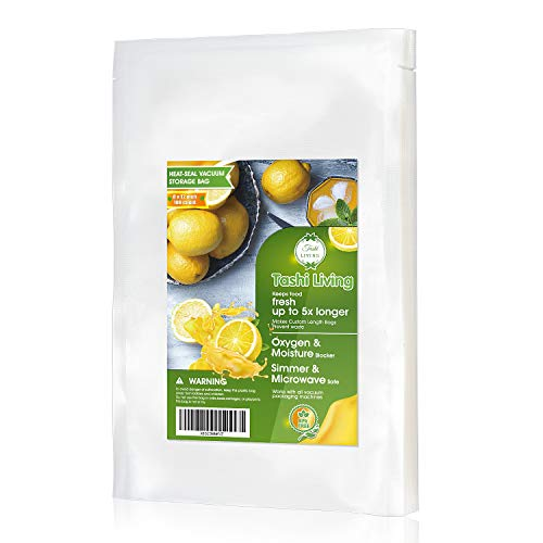 TashiLiving Vacuum Sealer Bags Qart Size 8×12 inch – 100 Count for Food Saver, 4mil BPA-Free, Freezer, Sous Vide, Pre-cut