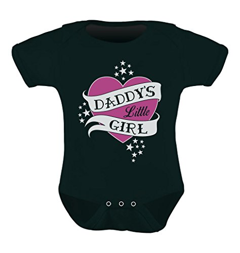 Babies Clothes - Daddy's Little Girl Cute Girl Grow Vest Baby Bodysuit 6M Black (Replica One Piece)