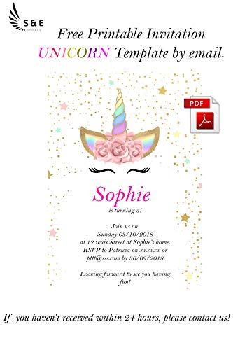New Unicorn Birthday Girl Unicorns Head band Ears Pink Satin Sash Girls  Happy Party Supplies Decorations Candle Costume