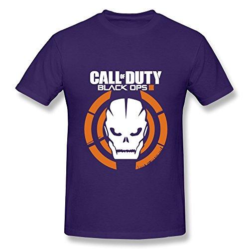 HUBA Men's Tshirt Call Of Duty Black Ops III 3 Purple Size M