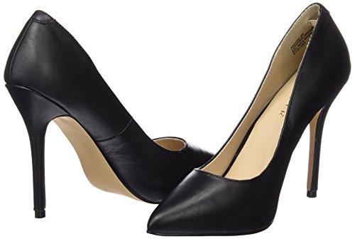 Amuse Plateau Nero 20 Con Pleaser Scarpe Leather Donna blk 7qdUwzpz