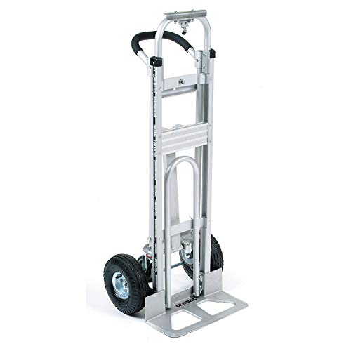 Aluminum 3-in-1 Convertible Hand Truck with Pneumatic Wheels from Global Industrial
