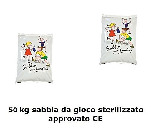 3 opinioni per Sabbia da Gioco (50kgs) 2 X 25kg x Sabbiera Lavata e Asciugata approvato CE