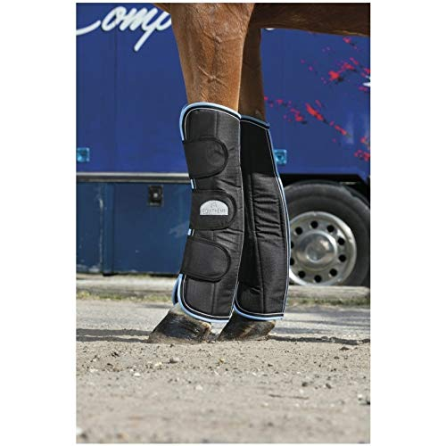 Black light bluee Pony black light bluee Pony Equi-Theme Tyrex 600 D Travel Boots Set of 4 Black Light bluee
