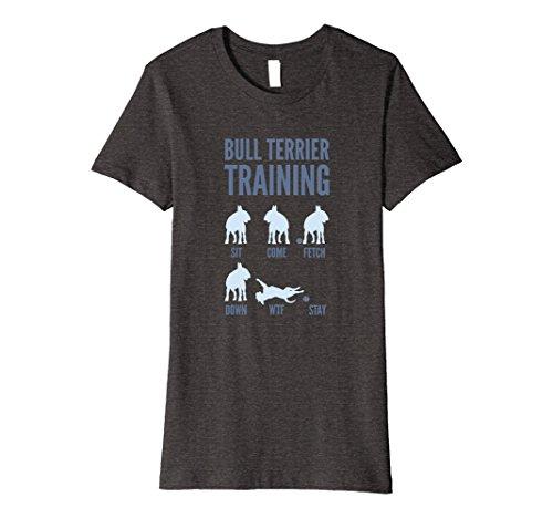 Womens English Bull Terrier Training T-Shirts Large Dark Heather