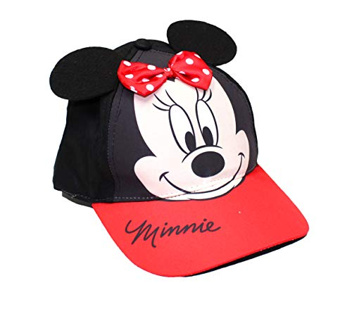 - Disney Girls' Toddler Minnie Mouse Bowtique Cotton Baseball Cap, Red/Black Age 2-4