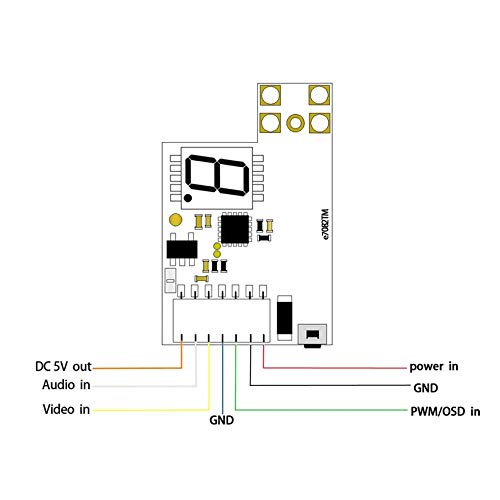 Wikiwand EWRF E7082TM 48CH 25mW/200mW/600mW Transmitter Support PWM/OSD Configuring by Wikiwand (Image #1)