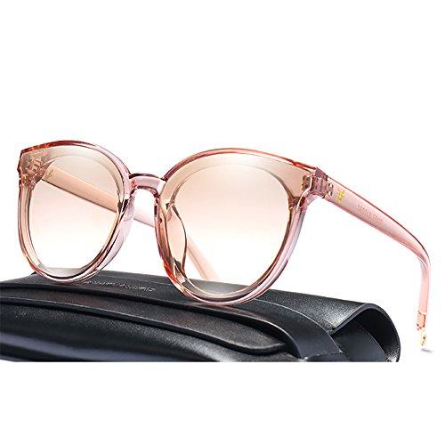 Tea sol Tea color polarizadas Gafas grandes ropa Color playa del YXX Forme la la UV400 Color de ligero de Gafas para de marco Sandy peso Awpq51