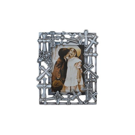 Amazoncom Giftsogifts Cross Picture Frame 25 X 35 Single